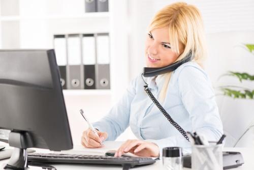 Дева на работе секретарем