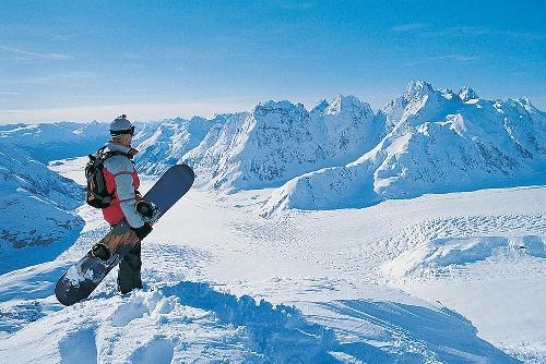 Овен на сноуборде